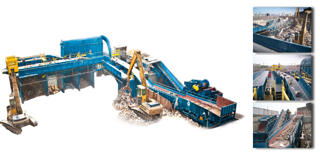 custom designed c&d recycling system