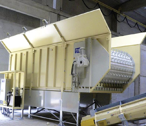 Metering Bunker for Recycling System