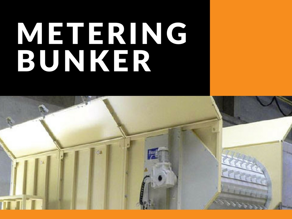 Metering Bunker With Hopper For Recycling Systems
