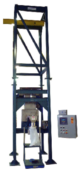 Poly Bag Filler under Bulk Bag Unloader