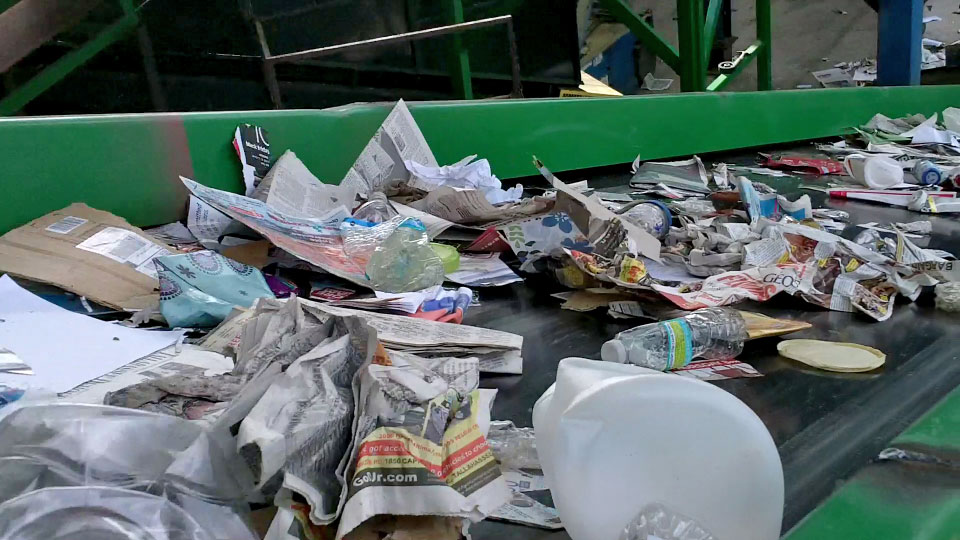 Separate Paper, Plastic and Glass for Recycling