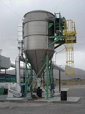 Pulse Jet Baghouse for Hot Gases