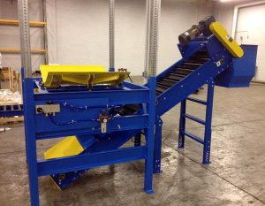 Bulk Bag Agitation Paddles - Cleated Incline Conveyor
