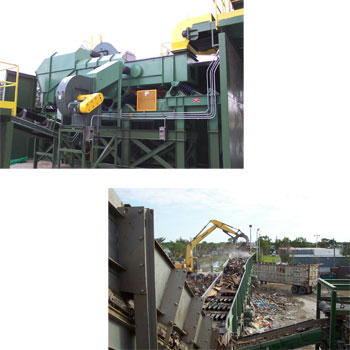 C&D Recycling System - Vibrating Finger Screen and De-Stoner Air Classifier