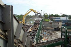 vibrating screen for construction demolition waste recycling