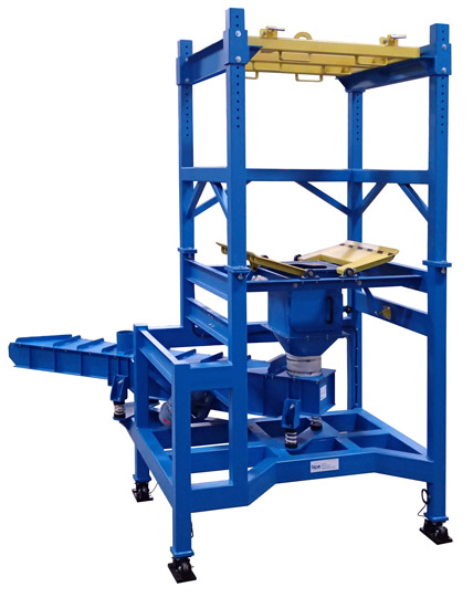Discharge Product from Bulk Bags into Batching Mixing System