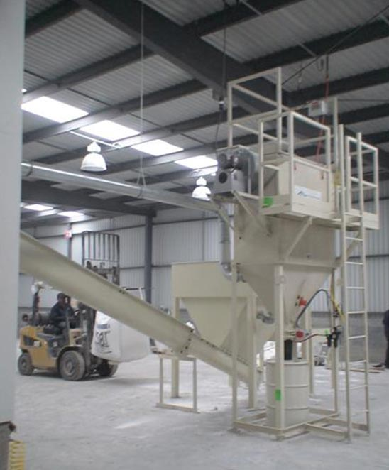 surge hopper with dust collector