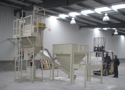 bulk bag unloading with dust collection