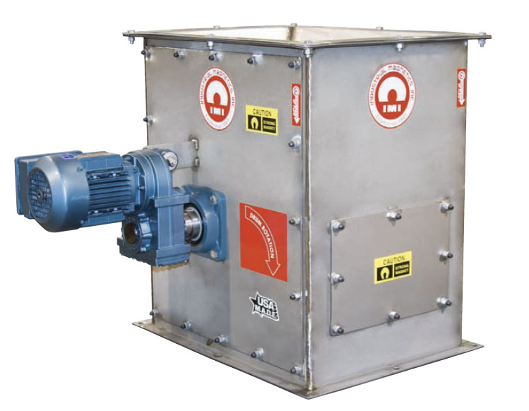 magnetic drum separator in housing with motor