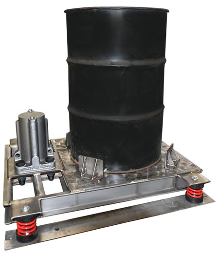 Compaction Table for Vibrating 55 Gallon or 30 Gallon Drums