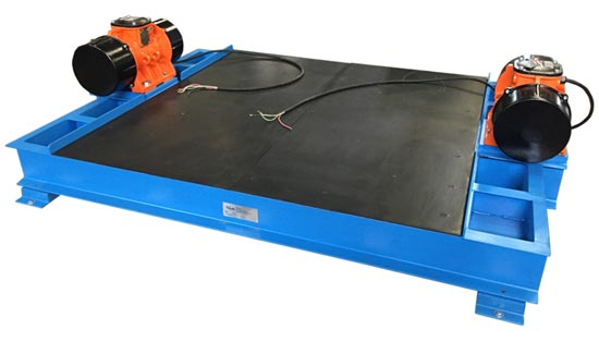 low profile flat deck vibration table