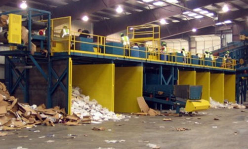 Recycling OCC - Commercial Waste Recycling System with Picking Stations