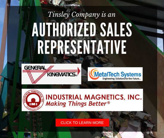 Tinsley Company is an authorized sales representative for the following companies