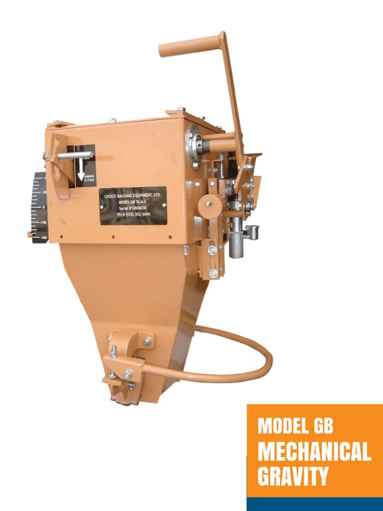 Model GB Mechanical Gravity Open Mouth Bagger