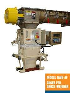 Model GWB-AF Auger Fed Gross Weigher - Open Mouth Bagger