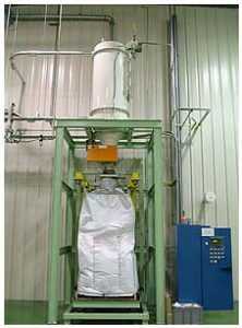 Bulk Bag Filling Equipment Under Pneumatic Receiver for Carbon Black