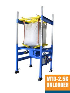 Bulk Bag Unloader and Bag Handling Equipment for 2500 pound bags FIBC