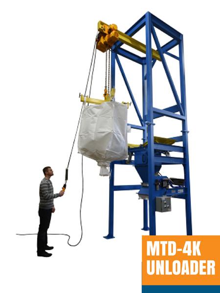 Bulk Bag Unloaders & Handling Equipment: 2,500 – 4,000 pound capacity