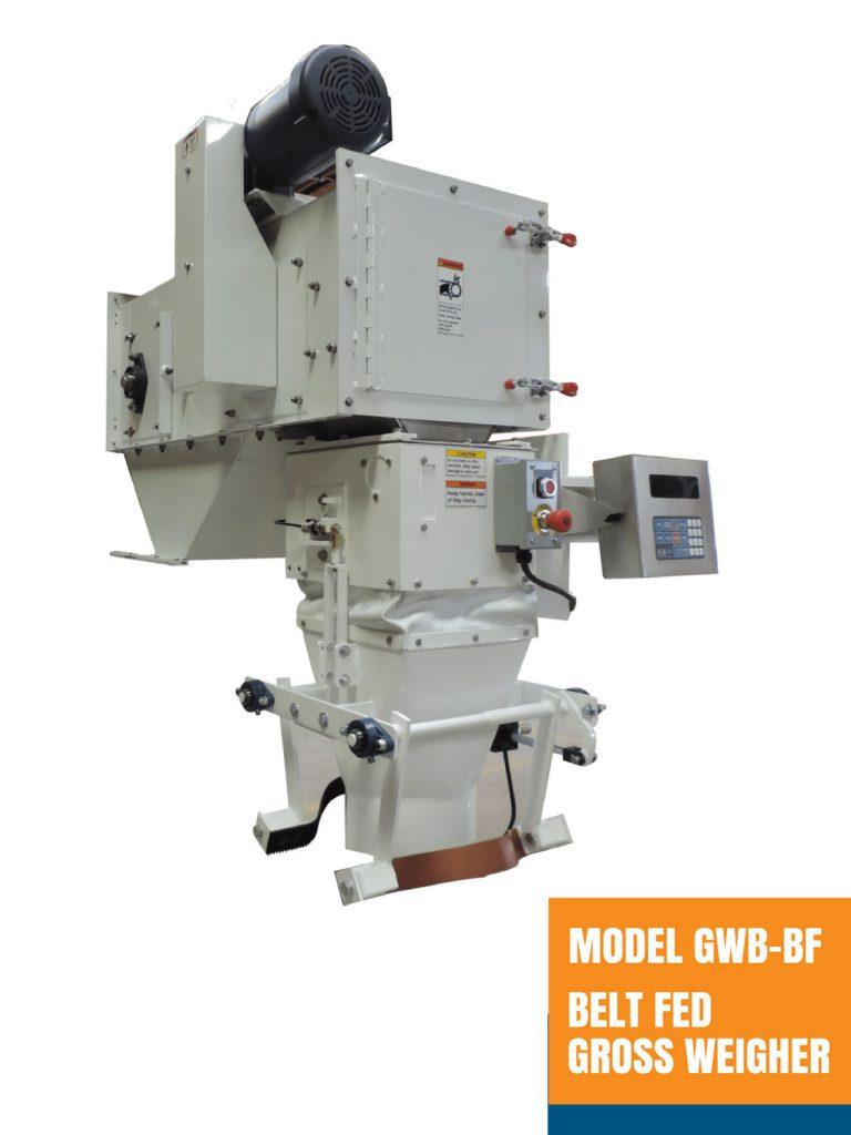Model GWB-BF Belt Fed Gross Weigher - Open Mouth Bagger