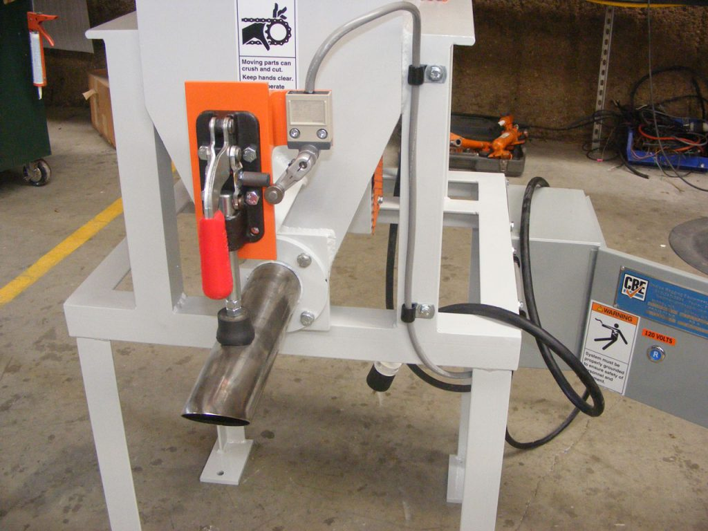 re-bagger model 250 auger style valve bagging machine