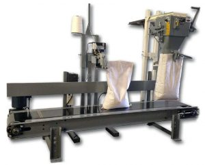 bag sewing machine with conveyor for open mouth bags