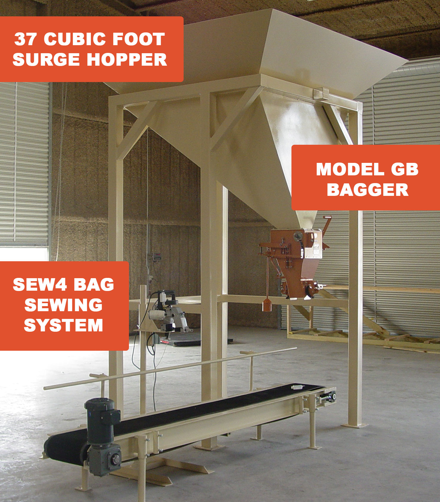bagging system for deer corn and other grains