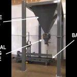 deer corn bagging system for 30 to 50 lb. bags - hopper, bagging machine, bag sewing system