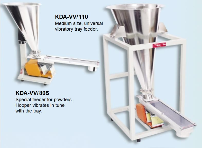 Volumetric Vibratory Feeders or Tray Feeders