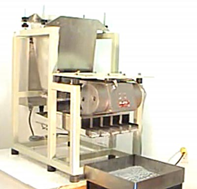 Adding Food Toppings Evenly to Edible Products on Conveyor with Feeder