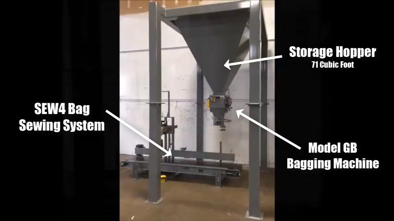 Animal Feed Bagging Machine and System for 20-100 lb Bags