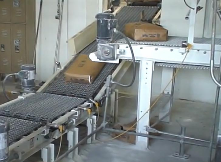 Incline Bag Conveyor and Bag Merging System