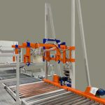 automatic adjustable bag fill and strap clamps