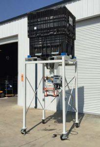 buckhorn probox located above model gwb digital bagging equipment for beans