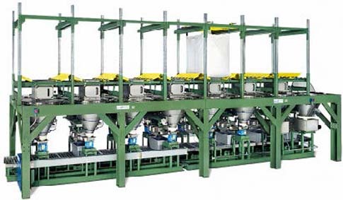 big bag dispensing system to batching system