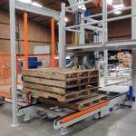 bulk bag filling machine with automatic pallet dispenser