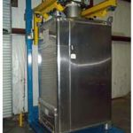 bulk bag filling machine with stainless steel tote bin adapter