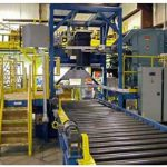 bulk bag filling station with take away roller conveyor