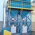 bulk bag filling system under reverse pulse dust collector