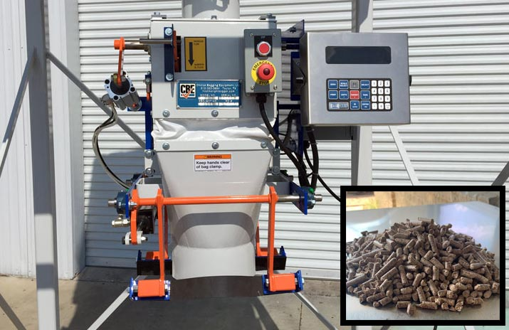 digital bag filling machine for bagging wood pellets