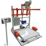 model 510 bulk bag filling machine with vibrating table deck