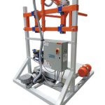 model 510 bulk bag filling machine with vibrating table deck rear view