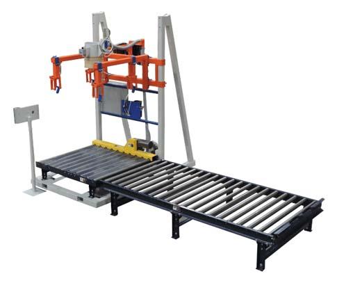 model 520 bulk bag filling machine with roller conveyor 2