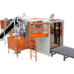 semi-automatic bag palletizing machine
