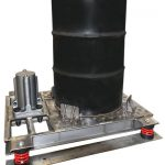 316 stainless steel pneumatic vibrating table for drums and containers