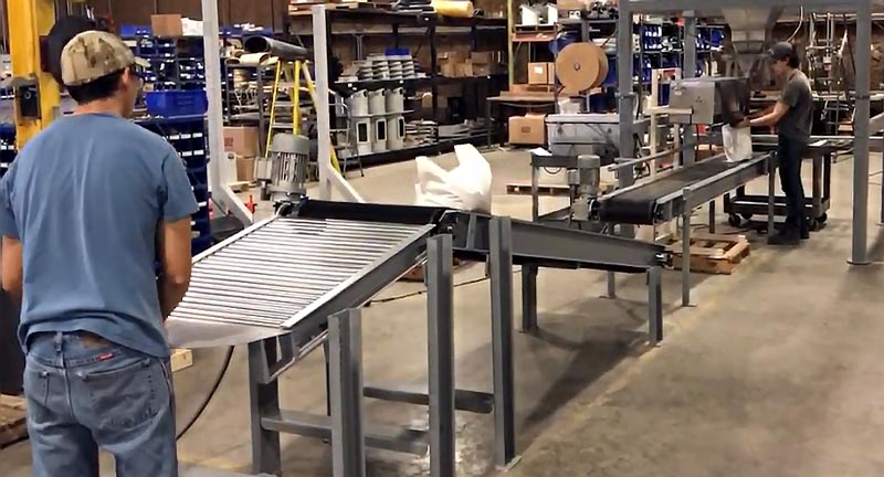Bag-Palletizing-Conveyor for packaging systems