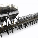 Industrial mixing and IBC blending system for powders seasonings pharmaceuticals