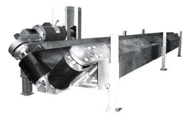 V-Shaped Belt Conveyor for filled bags