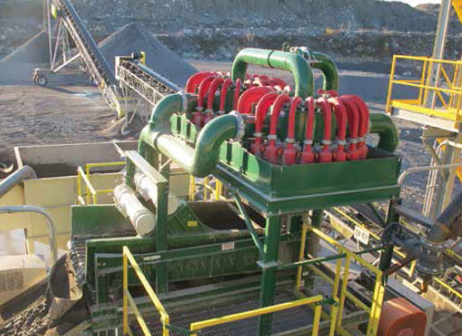 clean aggregate and sand processing wastewater