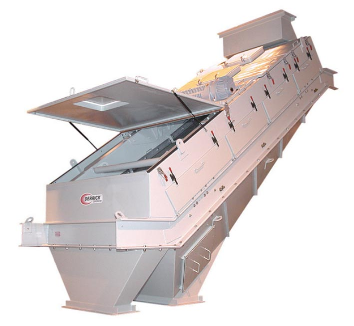 dry screening equipment with a single screening deck