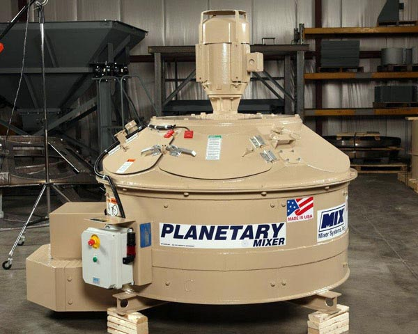 planetary style refractory mixer